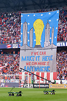 Harrison, NJ - Friday Sept. 01, 2017: Tifo prior to a 2017 FIFA World Cup Qualifier between the United States (USA) and Costa Rica (CRC) at Red Bull Arena.