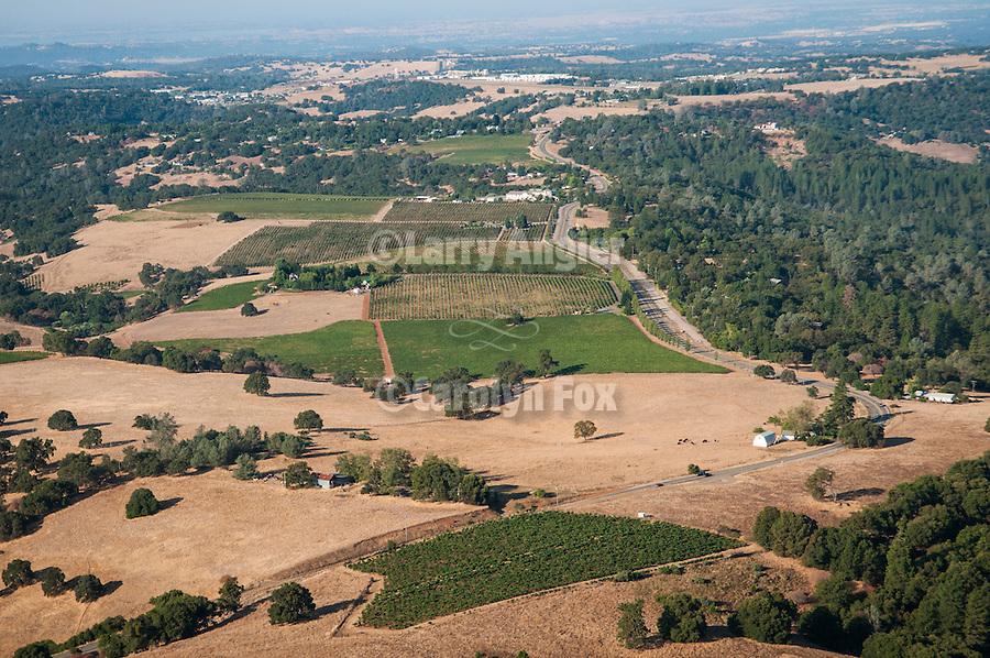 Over Amador County-aerials along Ridge Road-Aparicio, Avio, Sierra Ridge