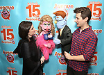 "Veronica J. Kuehn and Matt Dengler during ""Avenue Q"" Celebrates World Puppetry Day at The New World Stages on 3/21/2019 in New York City."