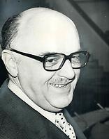 Montreal Mayor Jean Drapeau<br /> <br /> 1973<br /> <br /> PHOTO :  Dick Darrell - Toronto Star Archives - AQP