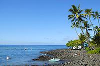 Kaahalu beach park, Kailua Kona, The Big Island of Hawaii