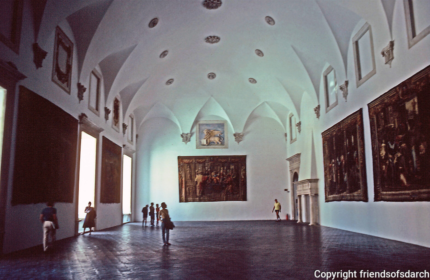 Urbino:  Ducal Palace--Throne Room.  17th C. Gobelins Tapestries.  Photo  '83.
