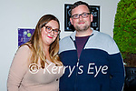 Enjoying the evening in Bella Bia's on Saturday, l to r: Cassandra Stack (Strand Road) and Shane Barry (Castlegregory).