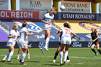 Kayla Sharples #28 of Chicago Red Stars heads the ball away