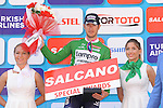 Sacha Modolo (ITA) Lampre-Merida retains the Green Sprints Jersey at the end of Stage 6 of the 2015 Presidential Tour of Turkey running 184km from Denizli to Selcuk. 30th April 2015.<br /> Photo: Tour of Turkey/Mario Stiehl/www.newsfile.ie
