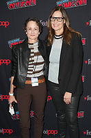 """NEW YORK CITY - OCTOBER 9:   Executive Producer Nina Jacobson and Mari-Jo Winkler attends a 2021 New York Comic Con event for FX's """"Y: The Last Man"""" at the Javits Center on October 9, 2021 in New York City.  (Photo by Ben Hider/FX//PictureGroup)"""