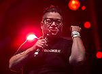 "© Joel Goodman - 07973 332324 . 22/08/2014 .  Manchester , UK . Lea DeLaria ( of American TV's Orange is the New Black ) on the main stage . Manchester Pride "" Big Weekend "" in Manchester's "" Gay Village "" today ( 22nd August 2014 ) . Photo credit : Joel Goodman"
