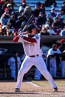 Wisconsin Timber Rattlers outfielder Tristen Lutz (21) at bat during a Midwest League game against the Beloit Snappers on April 7, 2018 at Fox Cities Stadium in Appleton, Wisconsin. Beloit defeated Wisconsin 10-1. (Brad Krause/Four Seam Images)