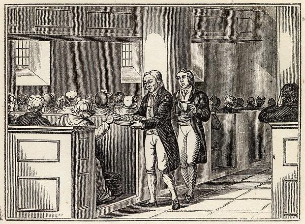 Love Feast of the Wesleyan Methodists     Date: 1820     Source: Nightingale's Religious ceremonies