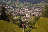 Austria, Kitzbuhel, Juli 15, 2015, Tennis, Davis Cup, Kitzbuhel from the lift<br /> Photo: Tennisimages/Henk Koster