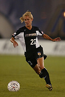 Emily Stauffer of the New York Power during a June 26th 3-2 loss to the Carolina Courage at Mitchel Athletic Complex.