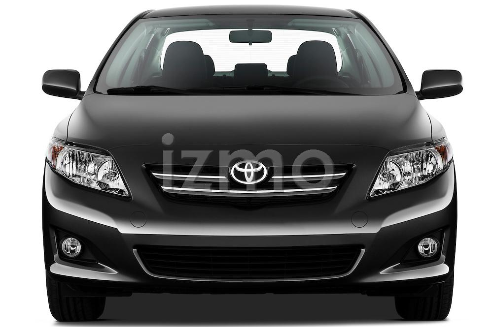 Straight front view of a 2010 Toyota Corolla Linea Sol 4 Door Sedan