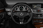 Steering wheel view of a 2011 Mercedes E350 4Matic Wagon