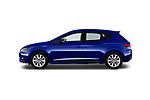 Car Driver side profile view of a 2017 Seat Leon Style 5 Door Hatchback Side View
