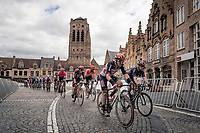 John Degenkolb (DEU/Lotto-Soudal) leading the race leader group through Veurne<br /> <br /> 44th AG Driedaagse Brugge-De Panne 2020 (1.UWT / BEL)<br /> 1 day race from Brugge to De Panne (203km shortened to 188km due to the windy weather conditions) <br /> <br /> ©kramon