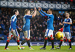 Martyn Waghorn celebrates his hat-trick with Harry Forrester