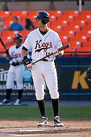 Bill Rowell (11) of the Frederick Keys gets ready to take his swings versus the Myrtle Beach Pelicans at Harry Grove Stadium in Frederick, MD, Monday July 14, 2008. (Photo by Brian Westerholt / Four Seam Images)