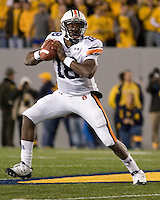 October 23, 2008: Auburn quarterback Kodi Burns. The West Virginia Mountaineers defeated the Auburn Tigers 34-17 on October 23, 2008 at Mountaineer Field, Morgantown, West Virginia.