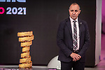 Cordiano Dagnoni, President of the Italian Cycling Federation, at the presentation of the 2021 Giro d'Italia Route in the Rai Studios in Corso Sempione, Milan, Italy. 23rd February 2021.  <br /> Picture: LaPresse/Claudio Furlan | Cyclefile<br /> <br /> All photos usage must carry mandatory copyright credit (© Cyclefile | LaPresse/Claudio Furlan)