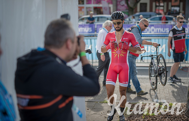 Nacer Bouhanni (FRA/Cofidis) finished 3rd & walks towards teh press tent after the race<br /> <br /> Brussels Cycling Classic 2016