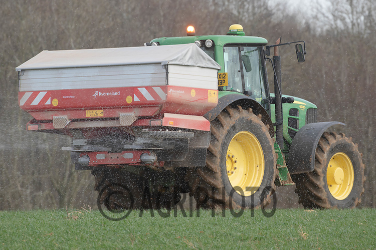 13th March 2020 Applying nitrogen to Winter wheat in Rutland<br /> ©Tim Scrivener Photographer 07850 303986<br />      ....Covering Agriculture In The UK....