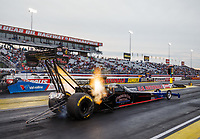 Sep 1, 2017; Clermont, IN, USA; NHRA top fuel driver Pat Dakin during qualifying for the US Nationals at Lucas Oil Raceway. Mandatory Credit: Mark J. Rebilas-USA TODAY Sports