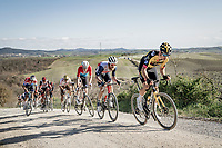 Wout van Aert (BEL/Jumbo-Visma) riding the gravel sector<br /> <br /> 15th Strade Bianche 2021<br /> ME (1.UWT)<br /> 1 day race from Siena to Siena (ITA/184km)<br /> <br /> ©kramon