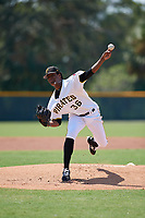 Pittsburgh Pirates pitcher Domingo Robles (36) delivers a pitch during an Instructional League game against the New York Yankees on September 28, 2017 at Pirate City in Bradenton, Florida.  (Mike Janes/Four Seam Images)