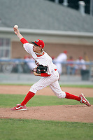 July 9th, 2007:  Clayton Long of the Batavia Muckdogs, Short-Season Class-A affiliate of the St. Louis Cardinals at Dwyer Stadium in Batavia, NY.  Photo by:  Mike Janes/Four Seam Images