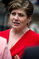Emily Thornberry (British Labour Party politician who has been the Member of Parliament for Islington South and Finsbury since the 2005 general election; she was appointed Shadow Secretary of State for Defence in January 2016 and Shadow Secretary of State for Foreign and Commonwealth Affairs in June 2016).<br /> <br /> London, 24/06/2016. The United Kingdom decided to leave the European Union. The British people voted (Turnout 72.2%): 51,9% to leave the EU (17,410,742 Votes) versus 48,1% to remain in the EU (16,141,241 Votes).<br /> <br /> For the full caption please find the 2-page PDF attached at the beginning of this story.<br /> <br /> For more information abou the result please clich here: http://www.bbc.co.uk/news/politics/eu_referendum/results