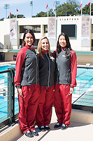 STANFORD, CA - Sophmores of the Stanford University Women's Synchronized Swimming Team
