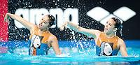 Hong Kong HKG<br /> CHO Man Yee Nora HKG<br /> LAU Michelle Hoi Ting HKG<br /> Duet Technical Preliminary<br /> Day3 26/07/2015<br /> XVI FINA World Championships Aquatics<br /> Synchro<br /> Kazan Tatarstan RUS July 24 - Aug. 9 2015 <br /> Photo Pasquale Mesiano/Deepbluemedia/Insidefoto