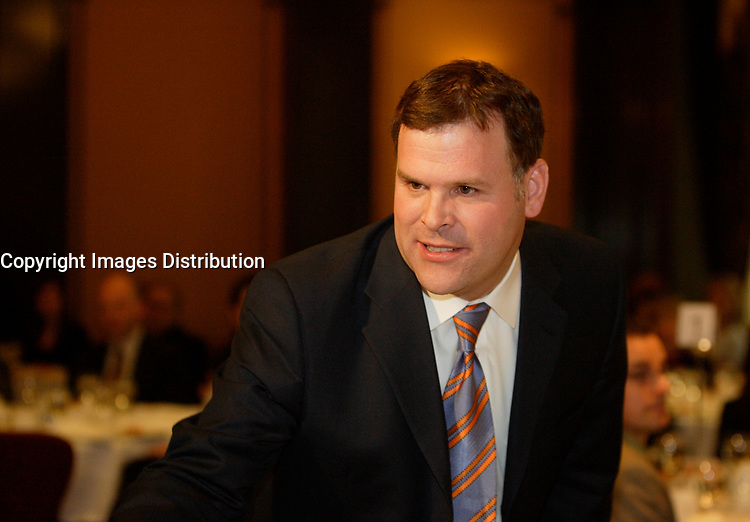 Montreal (Qc) CANADA, April 23 2007<br /> <br /> The Honourable John Baird, Minister of<br /> the Environment,CANADA <br /> deliver  a keynote address on Canada's environmental<br /> leadership on the international stage at a conference lunch hosted by Réseau environnement. April 23, 2007 in Montreal<br /> <br /> photo by  Images Distribution