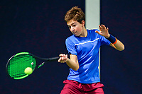 Hilversum, Netherlands, December 3, 2017, Winter Youth Circuit Masters, 12,14,and 16, years, Luka Novakovic  (NED)<br /> Photo: Tennisimages/Henk Koster