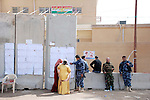 KIRKUK, IRAQ:  The outside of a polling station in Kirkuk...On March 7th, 2010 Iraq held national parliamentary elections...Photo by Hawre Khalid/Metrography