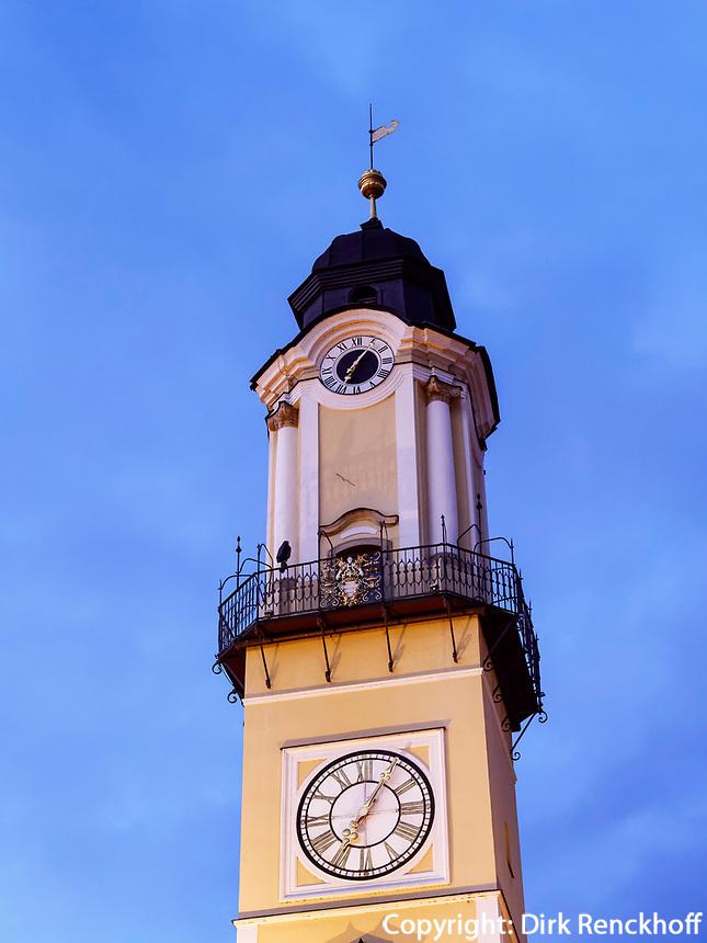 Renaissance-Uhrturm in Banska Bystrica, Banskobystricky kraj, Slowakei, Europa<br /> Renaissance clock tower in Banska Bystrica, Banskobystricky kraj, Slovakia, Europe