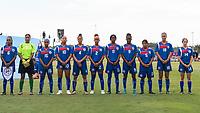 Bradenton, FL - Wednesday, June 06, 2018: Bermuda Starting XI during a U-17 Women's Championship match between the United States and Bermuda at IMG Academy.