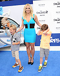 Britney Spears and Sean Federline and Jayden James Federline <br />  at The Columbia Pictures and Sony Pictures Animation L.A. Premiere of The Smurfs 2 held at The Regency Village Theatre in Westwood, California on July 28,2013                                                                   Copyright 2013 Hollywood Press Agency