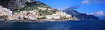 Panoramic view of Amalfi town, Amalfi Coast, Italy<br /> <br /> Image taken on large format panoramic 6cm x 17cm transparency. Available for licencing and printing. email us at contact@widescenes.com for pricing.