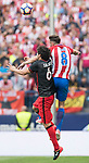 Mikel San Jose Dominguez (L) of Athletic Club fights for the ball with Saul Niguez Esclapez (R) of Atletico de Madrid  during their La Liga match between Atletico de Madrid vs Athletic de Bilbao at the Estadio Vicente Calderon on 21 May 2017 in Madrid, Spain. Photo by Diego Gonzalez Souto / Power Sport Images