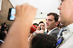 President of Ciudadanos, Albert Rivera attends to a meeting with board of the Spanish Federation of Food and Beverage (FIAB) in Madrid. May 19, 2016. (ALTERPHOTOS/Borja B.Hojas)