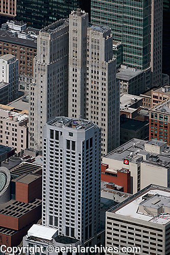 aerial photograph 140 New Montgomery Street residential tower San Francisco