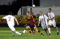 Spain's Canales and Norway's Linnes (l), Sevensson (c), Elabdellaoui during an International sub21 match. March 21, 2013.(ALTERPHOTOS/Alconada) /NortePhoto