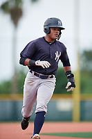 GCL Yankees East designated hitter Starlin Paulino (6) runs the bases during the second game of a doubleheader against the GCL Pirates on July 31, 2018 at Pirate City Complex in Bradenton, Florida.  GCL Pirates defeated GCL Yankees East 12-4.  (Mike Janes/Four Seam Images)