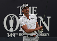 13th July 2021; The Royal St. George's Golf Club, Sandwich, Kent, England; The 149th Open Golf Championship, practice day; Rafa Cabrera Bello (ESP) plays his tee shot on the 1st hole