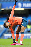 Dominic Calvert-Lewin of Everton warms up ahead of kick-off during Chelsea vs Everton, Premier League Football at Stamford Bridge on 8th March 2020