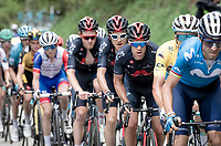 (later GC leader) Richie Porte (AUS/Ineos Grenadiers) sticking to teh front pacers up the climb towards La Plagne (HC/2072m/17.1km@7.5%) <br /> <br /> 73rd Critérium du Dauphiné 2021 (2.UWT)<br /> Stage 7 from Saint-Martin-le-Vinoux to La Plagne (171km)<br /> <br /> ©kramon