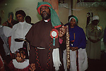 Mount Zion Spiritual Baptist Church. Uk Bishop Noel with Spirit Wand. He could cure cancer. 1990s