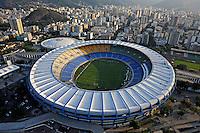 Vista aérea do Estádio do Maracanã. Rio de Janeiro. 2008. Foto de Ricardo Azoury.