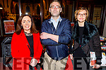 Breda Walsh, Niall O'Connor and Rosie Smyth attending the Mistletoe and Wine concert in St Johns Ashe St on Friday.